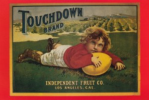 Touchdown Brand Los Angeles CA USA NFL Advertising Postcard