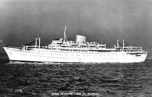 MV Aureol Elder Dempster Line Ship Non postcard Backing