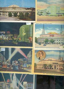 pc9422 postcard Hollywood California SEVEN 1 used 6 not