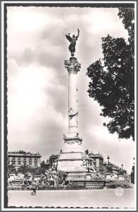 France Bordeaux Monument Postcard