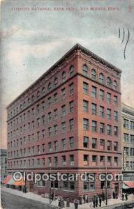 Citizens National Bank Building Des Moines, Iowa, USA Postcard Post Card Des ...