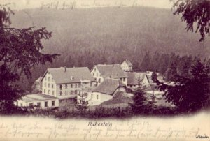 VIEW OF RUHESTEIN GERMANY 1905