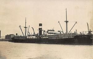Blairdenon Cargo Steamship Tinted Real Photo RPPC Postcard