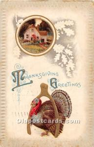 Thanksgiving Old Vintage Antique Postcard Post Card 1911