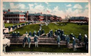 LEAVENWORTH, KS Kansas   NATIONAL MILITARY HOME  1915   Postcard