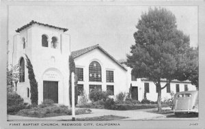 Clear View 1st Baptist Church Redwood City California Postcard Wayne Paper 9066