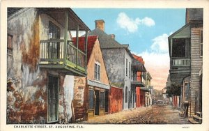Charlotte Street St Augustine, Florida Postcard