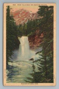 Trick Falls Two Medicine Chalets Glacier National Park Postcard
