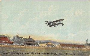 Pittsburg Pennsylvania Brunot's Island Race Track Airplane Postcard AA13439