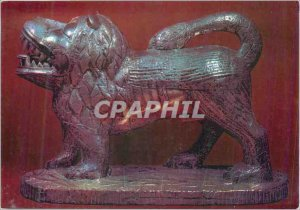 Postcard Modern Silver Lion Fon (Dahomey Meridional) Wood and Silver Length 4...