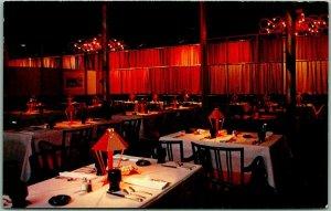 1950s Spokane, Washington Postcard Davenport Hotel THE MATADOR Restaurant Unused