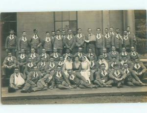 Old rppc GROUP OF PEOPLE Great Postcard AB1423