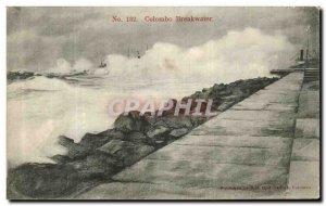 Old Postcard Colombo Breakwater