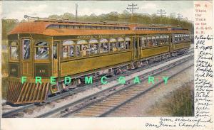 1906 Railroad Postcard: Aurora Elgin & Chicago Train - Early