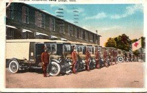 Iowa Des Moines Camp Dodge Hospital Ambulance 1918