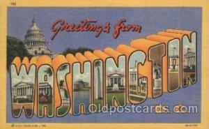 Washington, USA Large Letter State Unused