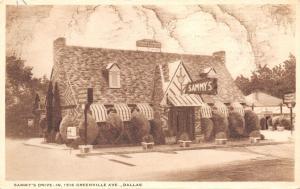 Dallas Texas~Sammy's Drive In Restaurant~1516 Greenville Avenue~1940 Sepia PC