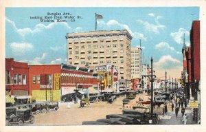 Wichita Kansas Douglas Avenue Looking East Vintage Postcard AA6461