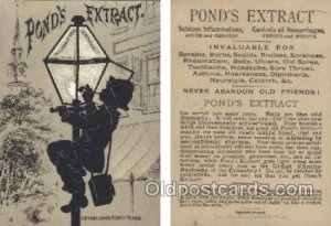 Ponds Extract Trade Card Approx Size Inches = 2.75 x 4 Unused