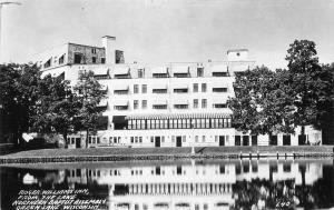 Baptist Green Lake Wisconsin Roger Williams Inn 1940s RPPC Cook Postcard 102