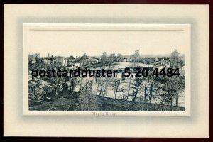 4484 - MAGOG Quebec Postcard 1910s River Bridge by Pharmacie Beique