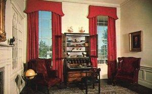 Stone Mountain, GA, Dickey House Plantation, Study, Vintage Postcard h1740