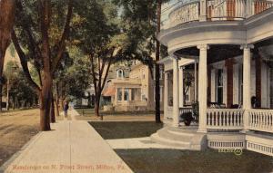 Milton Pennsylvania~North Front Street Mansions~Big Houses~1912 Postcard