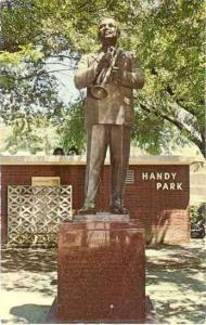 W.C. Handy Statue in Handy Park, Beale Street, Memphis, Tennessee TN Chrome