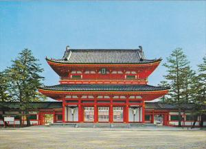 Japan Kyoto The Otenmon Gate The Heian Shrine