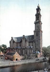 Netherlands Amsterdam Westerkerk Church Street Vintage Cars Voitures Eglise