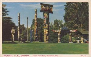 Canada Victoria Indian Totem Poles Thunderbird Park
