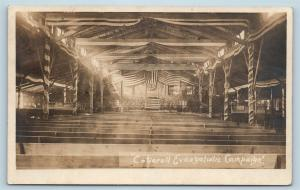 Postcard MD Westernport Cotterell Evangelistic Campaign Patriotic RPPC Photo S7