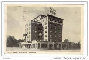 Hotel Ware, Waycross, Georgia, PU-1939