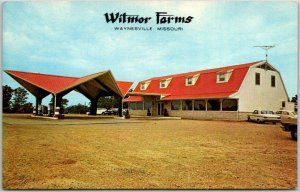 Waynesville, Missouri Postcard WITMOR FARMS Restaurant Highway 66 Roadside 1960s