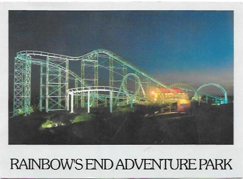 New Zealand. Rainbow's End Adventure Park.  Olympics ' 96 Stamp