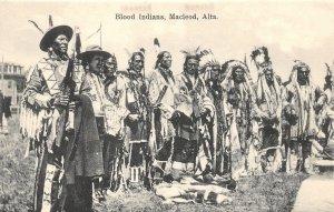 G21/ Native American Indian Postcard c1910 Macleod Alberta Canada Blood 4
