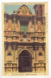 Saint Francis Church / Cathedral,La Paz,Bolivia 1930-40s