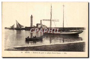 Sete Old Postcard Entrance to the port and lighthouse Saint Louis (lighthouse)