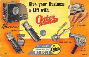 Topeka KS Oster Barber Electric Hair Cutter Hair Dryers Messager Curt Teich PC