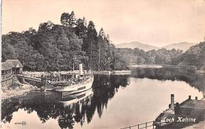 Scotland, UK Old Vintage Antique Post Card Loch Katrine Unused
