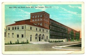 Jackson Tennessee Postcard Street View Bemis Cotton Mill & Main Office  #75901