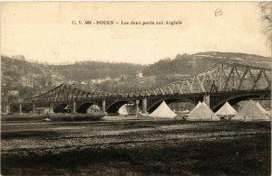 CPA ROUEN-Les deux ponts aux Anglais (348757)