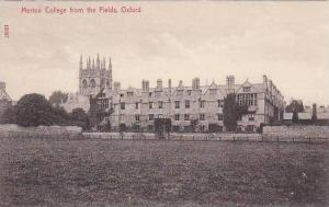 Merton College from the Fields, Oxford, Oxfrdshire, England, United Kingdom, ...