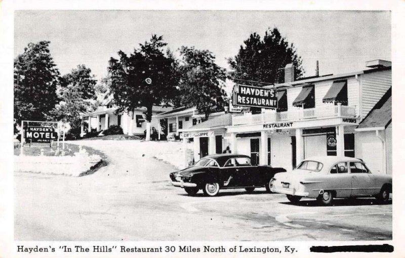 Lexington Kentucky Hayden's Restaurant and Motel Vintage Postcard AA39807