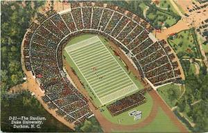 NC, Durham, North Carolina, Stadium, Duke Carolina Game, Curteich No. 1B-H1236