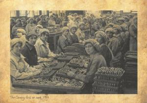 Repro 1917 Postcard, WW1 The Canary Girls, producing Munitions for the War 77T