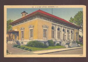 NEWBERRY SOUTH CAROLINA UNITED STATES POST OFFICE VINTAGE POSTCARD
