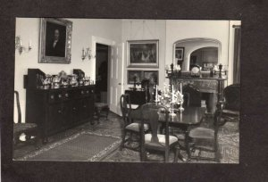 ME Colonel Black House Mansion Ellsworth Maine Postcard Dining Room
