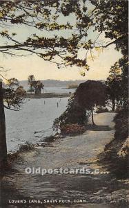 Savin Rock, Connecticut, CT, USA Postcard Lover's Lane 1909