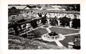 Antiqua Guatemala Santa Clara Convent Gardens Real Photo Antique Postcard J68554